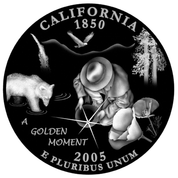 Illustration used to create bump map for California Quarter Design Submission.